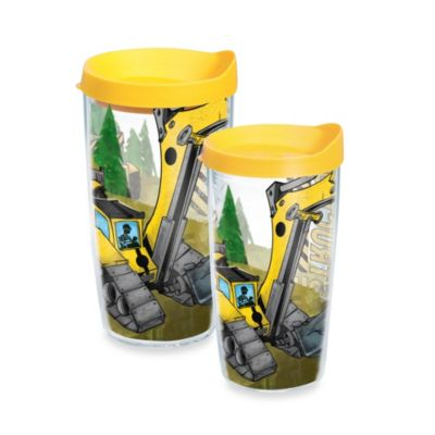Tervis® Construction Trucks 16-Ounce Wrap Tumbler with Yellow Lid