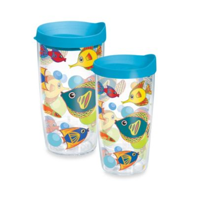 Tervis® Fun Fish 10-Ounce Wrap Tumbler with Blue Lid