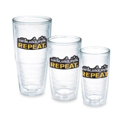 10-Ounce Swim Bike Run Repeat Tumbler