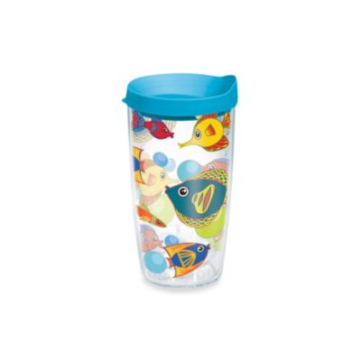 Tervis® Fun Fish 16-Ounce Wrap Tumbler with Blue Lid