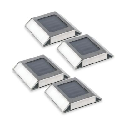 Solar Pathway LED Lights (Set of 4)