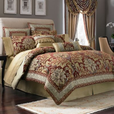 Red Croscill Comforter Set