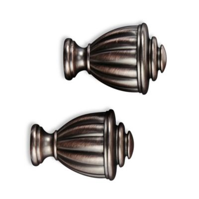 Cambria® Elite Complete Fluted Finial in Oil Rubbed Bronze (Set of 2)