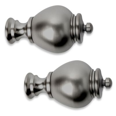 Cambria® Premier Complete® Apothecary Finial in Graphite (Set of 2)