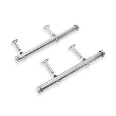 Cambria® Premier Complete 12-Inch x 20-Inch Side Mount Drapery Rod in Polished Nickel (Set of 2)