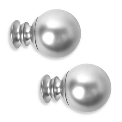 Cambria® Premier Complete Paragon Finial in Polished Nickel (Set of 2)