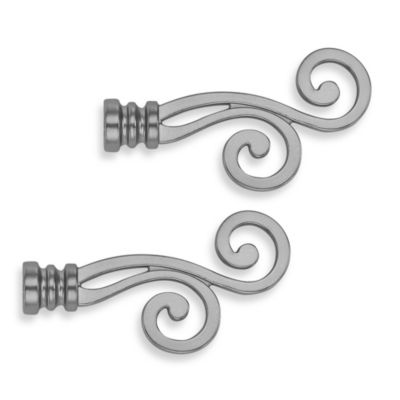 Cambria® Classic Complete Lariat Finial in Brushed Nickel (Set of 2)