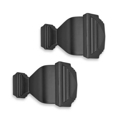 Cambria® Classic Complete Napoleon Finial in Satin Black (Set of 2)