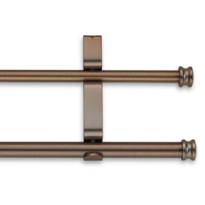 Cambria® Classic Complete 28-Inch x 48-Inch Double Drapery Rod in Oil Rubbed Bronze