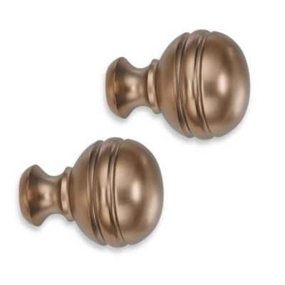 Cambria® Classic Complete Orbit Finial in Warm Gold (Set of 2)
