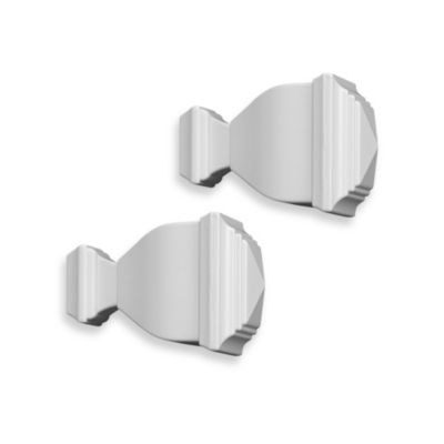 Cambria® Classic Complete Napoleon Finial in Satin White (Set of 2)