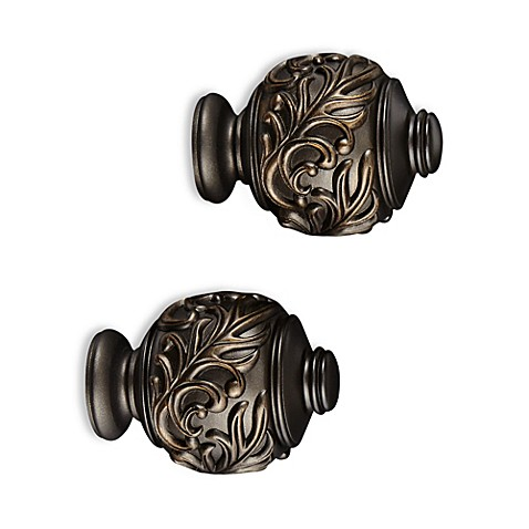Cambria 174 Elite Complete Leaf Embossed Finial In Matte