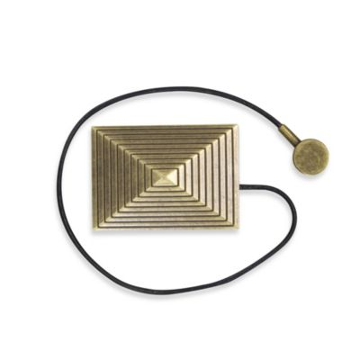 Magnetic Rectangle Curtain Tie Back in Gold