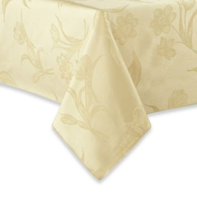 Spring Blossoms Damask Tablecloth