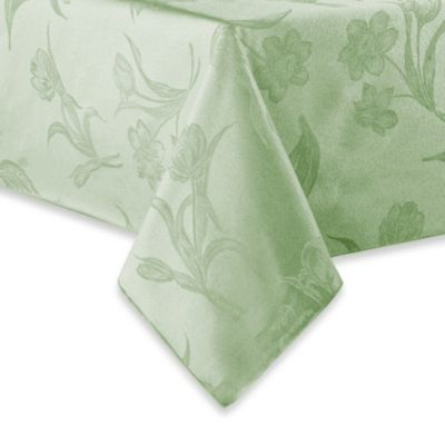 Spring Blossoms Damask 70-Inch Round Tablecloth in Pistachio
