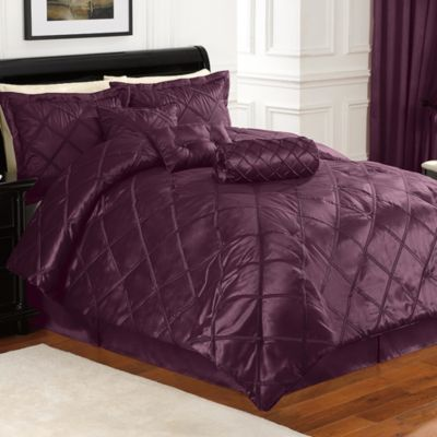 Braxton 7-Piece Full Comforter Set in Purple