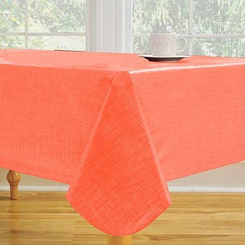 Monterey Vinyl Tablecloth In Coral Bed Bath Amp Beyond