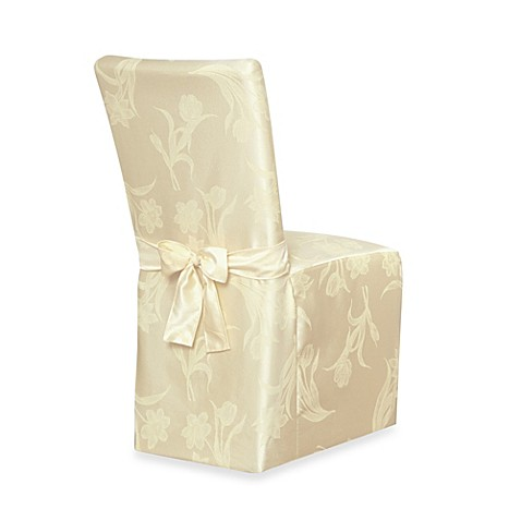 Damask dining room chair covers