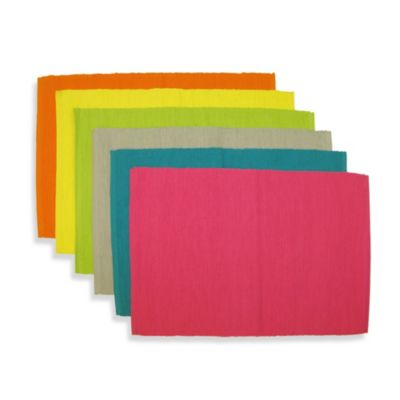 Sentra 100% Cotton Solid Placemats (Set of 6)