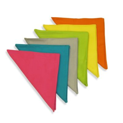 Sentra Solid 100% Cotton Mix and Match Napkins (Set of 8)