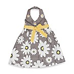 Blueberi Boulevard Daisy Print Sundress in Black/White