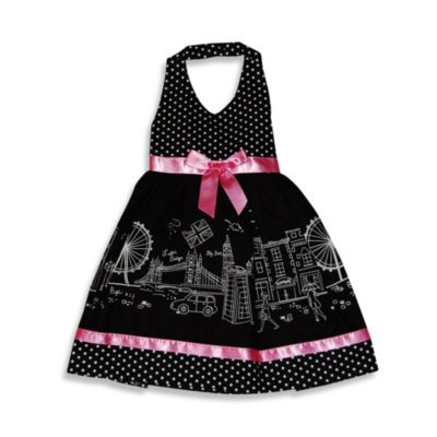 Blueberi Boulevard Whimsical Print Sundress in Black/White