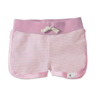 Burt's Bees Baby™ Stripe Short in Pink/White