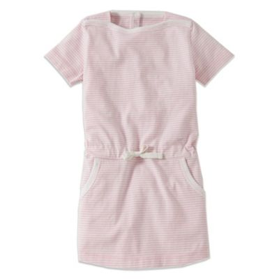 Burt's Bees Baby™ Striped Boatneck Dress in Pink/White