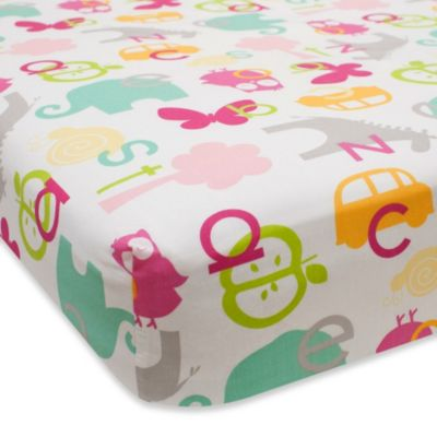 Lambs & Ivy® Sweet ABC Fitted Crib Sheet