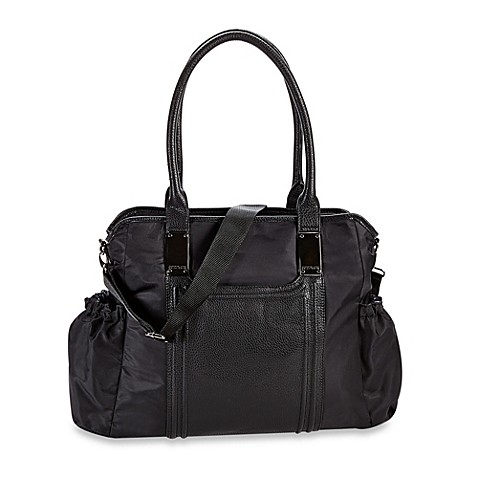 kenneth cole reaction square one tote diaper bag in black buybuy baby. Black Bedroom Furniture Sets. Home Design Ideas
