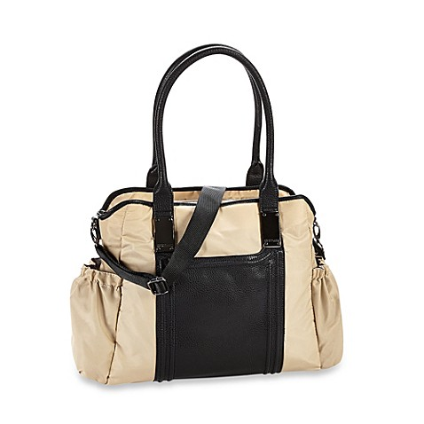 kenneth cole reaction square one tote diaper bag in sand bed bath beyond. Black Bedroom Furniture Sets. Home Design Ideas