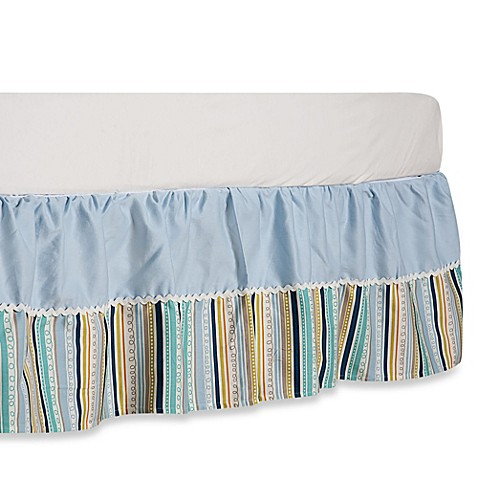 Buy Blue And White Striped Bed Skirt From Bed Bath Amp Beyond