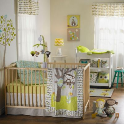 Living Textiles 4-Piece Crib Set