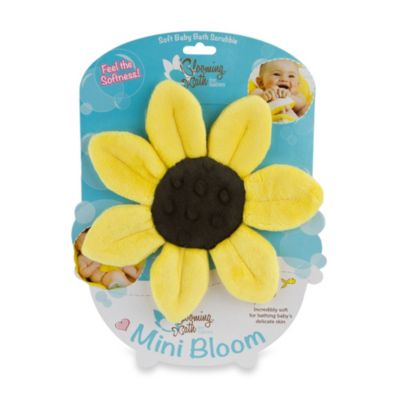 Washcloths > Blooming Bath™ Mini-Bloom Scrubbie in Canary Yellow