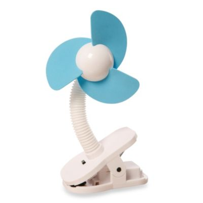 Dreambaby Clip-On Stroller Fan in Blue/White