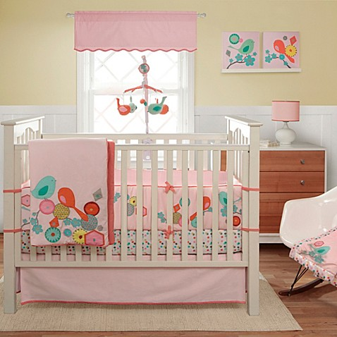 Migi modern blossom crib 3 piece crib bedding set bed bath beyond - Modern baby bedding sets ...