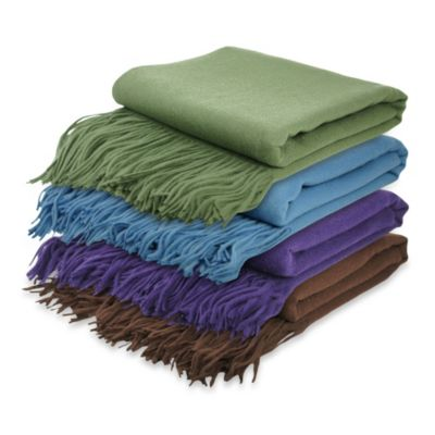 Pur Cashmere Signature Waterwave Throw in Chocolate