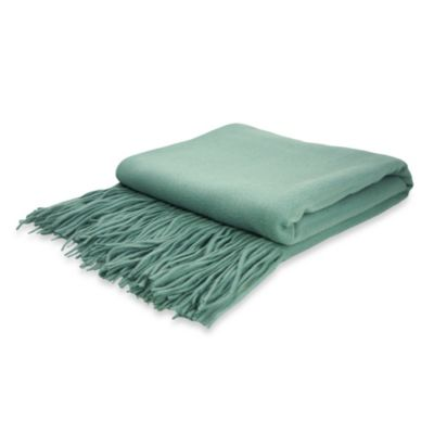 Pur Cashmere Signature Waterwave Throw in Spa