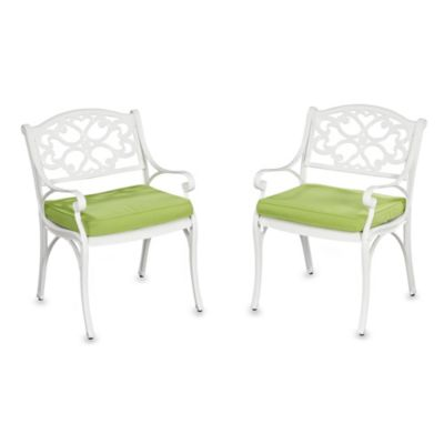Home Styles Biscayne Arm Chair with Cushion (Set of 2)