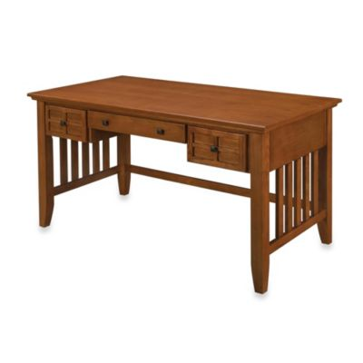 Home Styles Arts & Crafts Executive Desk in Cottage Oak