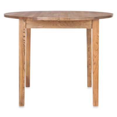 Safavieh Holly Round Dining Table in Oak