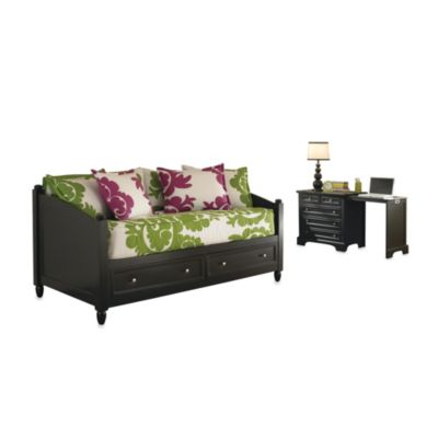Home Styles Bedford Storage Daybed and Expand-a-Desk in Black