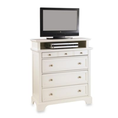 Home Styles Naples TV Media Chest in White