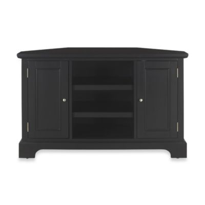 Home Styles Bedford Corner TV Stand in Black