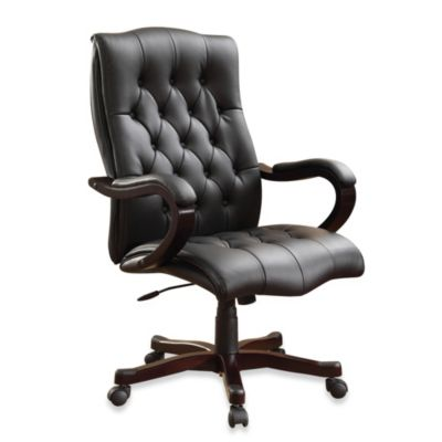 Executive Wood Office Chair