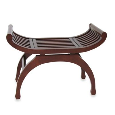 Java Hardwood Bench in Brown