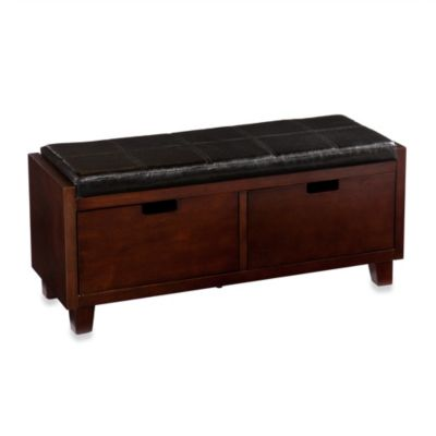 Sadie 2-Drawer Bench in Espresso