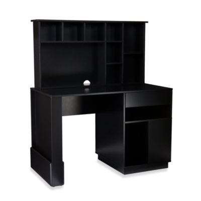 Beaumont Desk & Hutch in Black