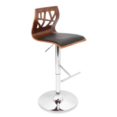 LumiSource Folia Barstool in Walnut