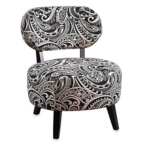 Superieur Black U0026 White Paisley Print Chair